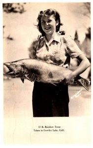 California  Crowley lake  Woman Caught 17 lb Rainbow Trout