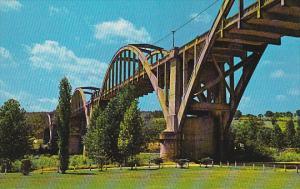 U.S. 62 Bridge, White River, COTTER, Arkansas, 40-60's
