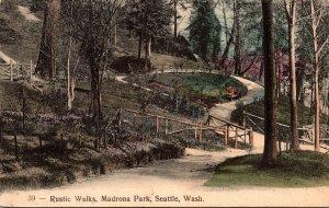 Washington Seattle Madrona Park Rustic Walks 1908