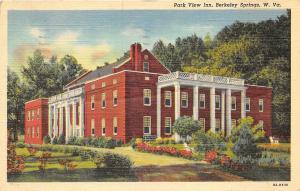 Berkeley Springs West Virginia 1951 Postcard Park View Inn