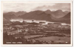 Cumbria; Keswick From Latrigg RP PPC, Unposted, By Mayson, c 1950's