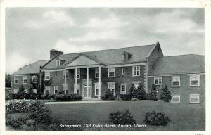 Aurora Illinois~Sunnymere~Old Folks Retirement Home~1940s B&W Postcard