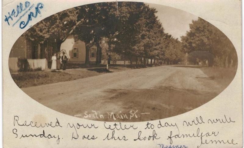 Middlebury IN RPPC South Main Street 1906 ID By Postmark