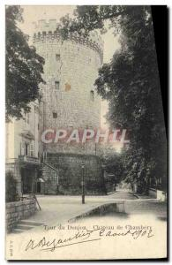 Old Postcard Tower Dungeon Chateau de Chambery
