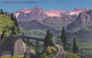 Mountains, Rigibahn Mit Urirotstock (2932 m), URI, Switzerland, 1900-1910s