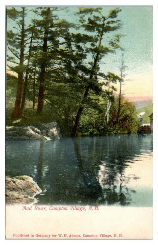 Early 1900s Mad River, Campton Village, NH Postcard