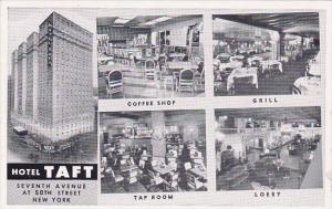 New York City Hotel Taft Coffee Shop Grill Tap Room Lobby
