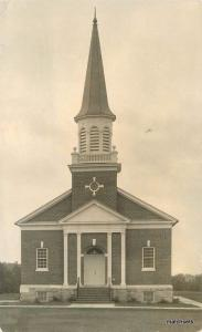 1920s Hanover Pennsylvania Church Hoffman Studios RPPC real photo postcard 4040