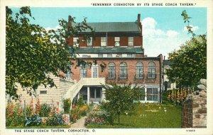 Coshocton Ohio Stage Coach Tavern Teich 1920s Postcard 8658