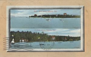 KENORA , Ontario , Canada, 1911 ; Motor Boat Races & pretty shore