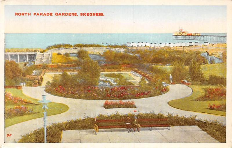 Skegness, North Parade Gardens, Pier, Seaside, Benches
