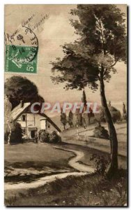 Old Postcard Fancy szene bucolic