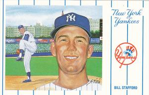 1961 New York Yankees Bill Stafford From Artwork By Susan Rini