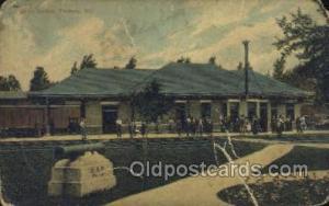 Union Station, Fairbury, IL, Illinois, USA Train Railroad Station Depot Post ...