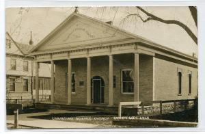 Christian Science Church Canon City Colorado 1910 RPPC Real Photo postcard