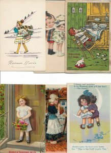 Illustrated Kids Postcard Lot of 20 with Artist Signed  01.19
