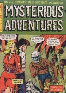 Mysterious Adventures 1950s Comic Book Cannibal Horror Postcard