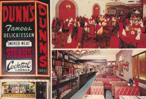 3 Views, Exterior and Interior, Dunn's Famous Restaurant, Coctail Lounge, Mon...