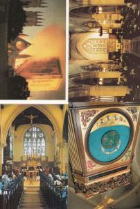 York Minster Clock Fire Disaster Sunday Service Congregation 4x Postcard s