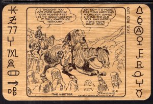 The KIbitzer J R Williams Western Comic
