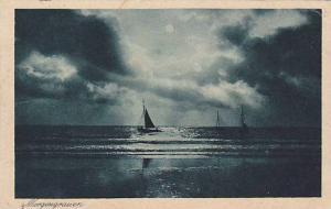 Sailboats, Morgengrauen, Poland, 1910-1920s