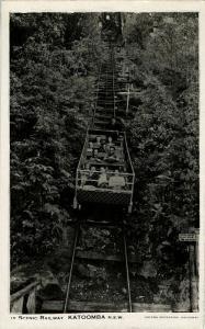 australia, KATOOMBA, N.S.W., Scenic Railway (1940s) RPPC
