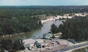 Aerial View, Classic Cars at Shell Gas Station, Boats, Wasaga Marine, Wasaga ...