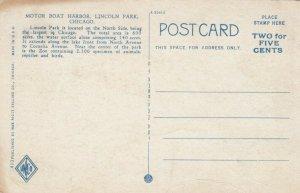 CHICAGO, Illinois; 1910-20s; Motor Boat Harbor, Lincoln Park