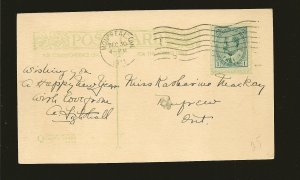 Postmark 1911 Montreal Quebec New Years Quality Cards Postcard