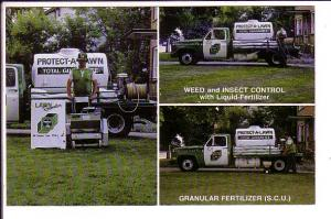 Granular Fertilizer Protect A Lawn, Oakville, Mississauga, Ontario, Advertising