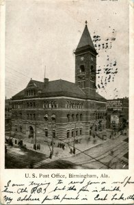 Vtg Postcard 1909 Birmingham, Alabama Post Office Building - Undivided Back