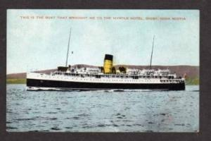 NS View Steamer Steamship DIGBY NOVA SCOTIA Postcard PC