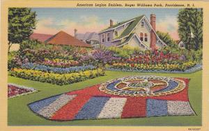 PROVIDENCE, Rhode Island, 1930-40s; American Legion Emblem, Roger Williams Park