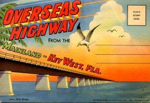 Folder - Overseas Highway, Florida Keys & Key West (16 lithograph views; line...