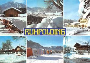 Ruhpolding Oberbayern Alpen Winter Campingplatz Gasthaus Pension