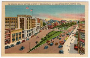 Boston, Mass, Kenmore Square Showing Junction Of Commonwealth Ave. And Beacon St
