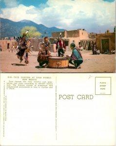 Tao Dancers At Taos Pueblo New Mexico (10119)