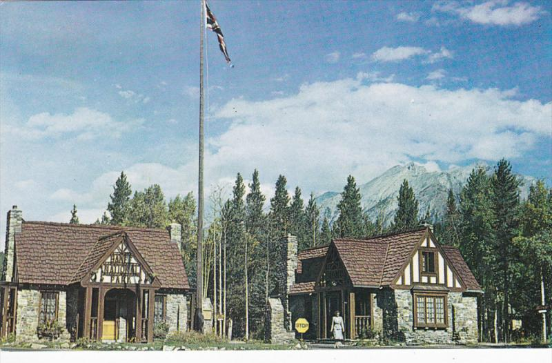 BANFF, Alberta, Canada, 1940-1960's; Entrance To Banff National Park