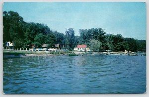 Cassopolis Michigan~Willow Tree~Park Shore~Boat Livery & Grocery~1950s Cars