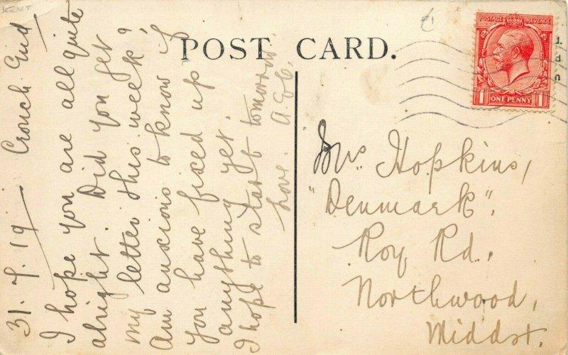 Vintage 1919 Louis Levy Postcard, Canterbury, The Grey Friar, Kent 60Z