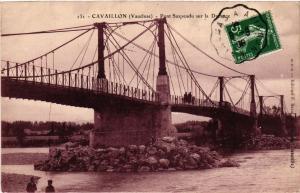 CPA CAVAILLON - Pont Suspendu sur la DURANCE (512118)