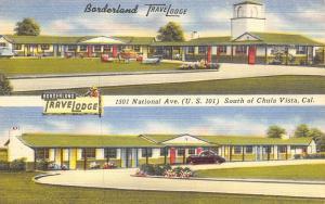 Chula Vista CA~Borderland TraveLodge Motel~US 101 Redwood Highway~1950 Linen PC