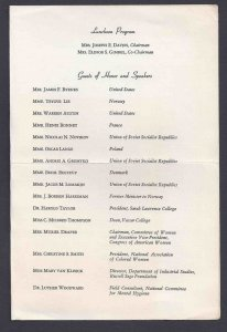 1946 THE COMMITTEE OF WOMEN OF THE NAT. COUNCIL OF AMER-SOVIET FRIENDSHIP, NYC