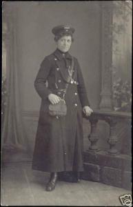 germany DRESDEN, Female TRAM Conductor Uniform 10s RPPC