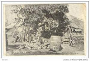 Conakry, Guinea, Pre-1905, Jeunes Fillettes au Poits