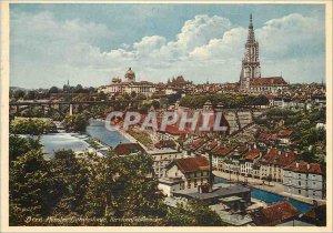Modern Postcard Munster Bundeshous Kirchenfeldbrücke