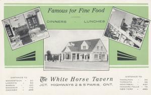PARIS , Ontario , 1950s-60s ; White Horse Tavern
