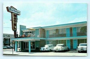 Postcard NJ Atlantic City Martinique Motel 1950's Old Cars I1