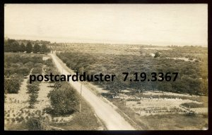 dc59 - OLD MISSION Michigan 1920s View from Golden Tower. Real Photo Postcard