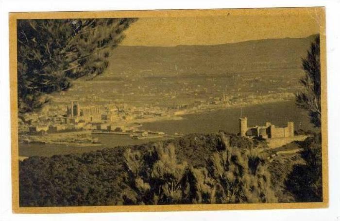 Vista General De Palma Con El Castillo De Bellver, Mallorca, Spain, 1900-1910s